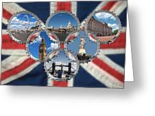 London Scenes Greeting Card