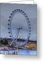 London Skyline Edf Eye Greeting Card