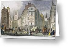 London: Street Scene, 1830 Greeting Card