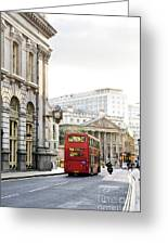 London Street With View Of Royal Exchange Building Greeting Card by Elena Elisseeva