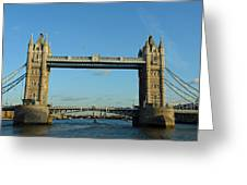 London Tower Bridge Looking Magnificent In The Setting Sun Greeting Card