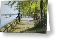 London Westminster Embankment Greeting Card