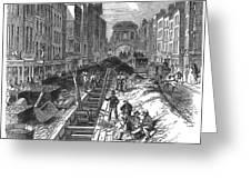 London:fleet Street Sewer Greeting Card