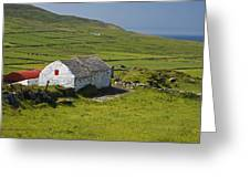 Lone Farmhouse On Mizen Head In West Greeting Card