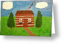 Lone Log Cabin Greeting Card