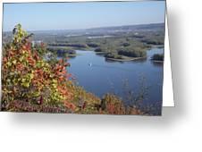 Lone River Boat Greeting Card