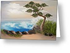 Lone Tree By The Sea Greeting Card by Joni McPherson