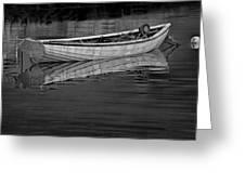 Lone White Boat In Nova Scotia Greeting Card
