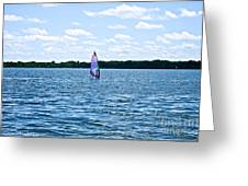 Lone Wind Surfer Greeting Card