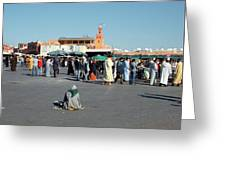 Lonely In Marrakesh Greeting Card