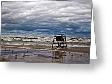 Lonely Lifeguard Chair 2 Greeting Card