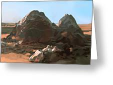Lonely Rocks Greeting Card
