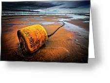 Lonely Yellow Buoy Greeting Card
