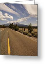 Lonesome Hiway To Shasta Greeting Card