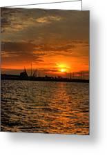 Long Beach Harbor Sunrise Greeting Card