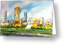 Long Beach Oil Islands Greeting Card