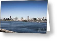 Long Beach Skyline Greeting Card