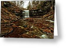 Long Canyon Waterfall Greeting Card