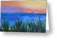 Long Island Sound Sunset Greeting Card