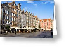 Long Market In Gdansk Greeting Card