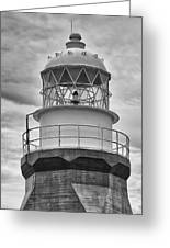 Long Point Lighthouse - Black And White Greeting Card