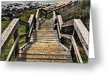 Long Stairway To Beach Greeting Card