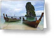 Long Tail Boats Thailand Greeting Card