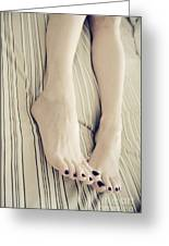 Long Toes Greeting Card by Tos Photos