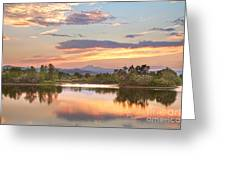 Longs Peak Evening Sunset View Greeting Card