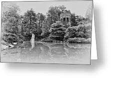 Longwood Gardens Castle In Black And White Greeting Card