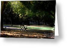 Lonley Park Bench Greeting Card