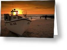 Lonstrup Sunset Greeting Card