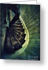 Looking Down An Old Staircase Greeting Card