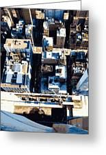 Looking Down Color 16 Greeting Card by Scott Kelley