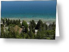 Looking Down On Dyers Bay Greeting Card