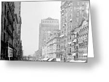 Looking Down State Street - Chicago - C  1897 Greeting Card