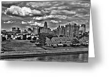 Looking Downtown From The Erie Basin Marina Greeting Card