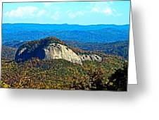 Looking Glass Mountain Blue Ridge Parkway Greeting Card