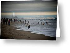 Looking South To Moss Landing Greeting Card
