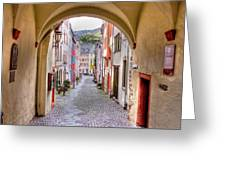 Looking Through Graach Gate - Colour Greeting Card