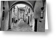 Looking Through Graach Gate Greeting Card