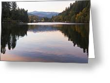 Looking Towards Leaburg Dam Greeting Card