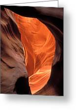 Looking Up At Antelope Canyon Greeting Card