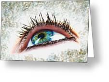 Looking Up Eye Art Greeting Card