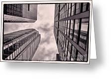 Looking Up In Philadelphia 3 Greeting Card
