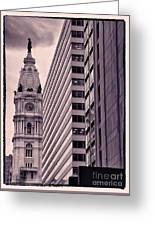 Looking Up In Philadelphia 7 Greeting Card