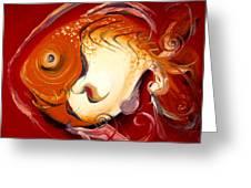 Loose Goldfish Greeting Card