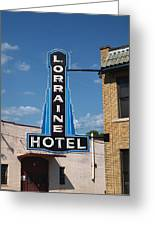 Lorraine Hotel Sign Greeting Card by Joshua House