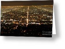 Los Angeles At Night 2 Greeting Card