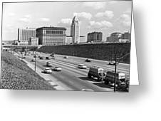 Los Angeles In The 1950s Greeting Card